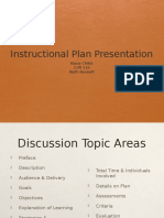 instructional plan and presentation