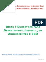 Dicas e Sugestões Para EBD