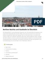 ᐅ Berliner Bezirke und Stadtteile im Überblick » Berlintipps