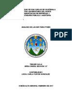 Analisis de Las Niif, Contabilidad i