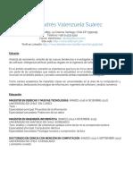 Curriculum Vitae - Daniel Valenzuela