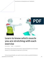 Learn to Know Which Muscle You Are Stretching With Each Exercise - Spirit & Body Arts