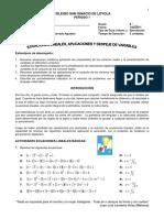 Guía 2 Ecuaciones lineales, aplicaciones y despeje de variables