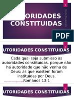 AUTORIDADE COSTITUIDA POR DEUS