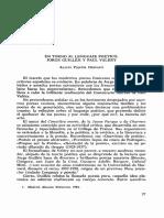 En Torno Al Lenguaje Potico Jorge Guilln y Paul Valry 0