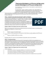 Ejemplo Planeación Estratégica y El Proceso de Ejecución