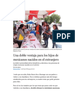 Una doble ventaja para los hijos de mexicanos nacidos en el extranjero