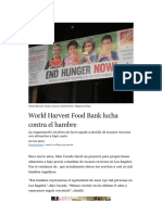 World Harvest Bank lucha contra el hambre