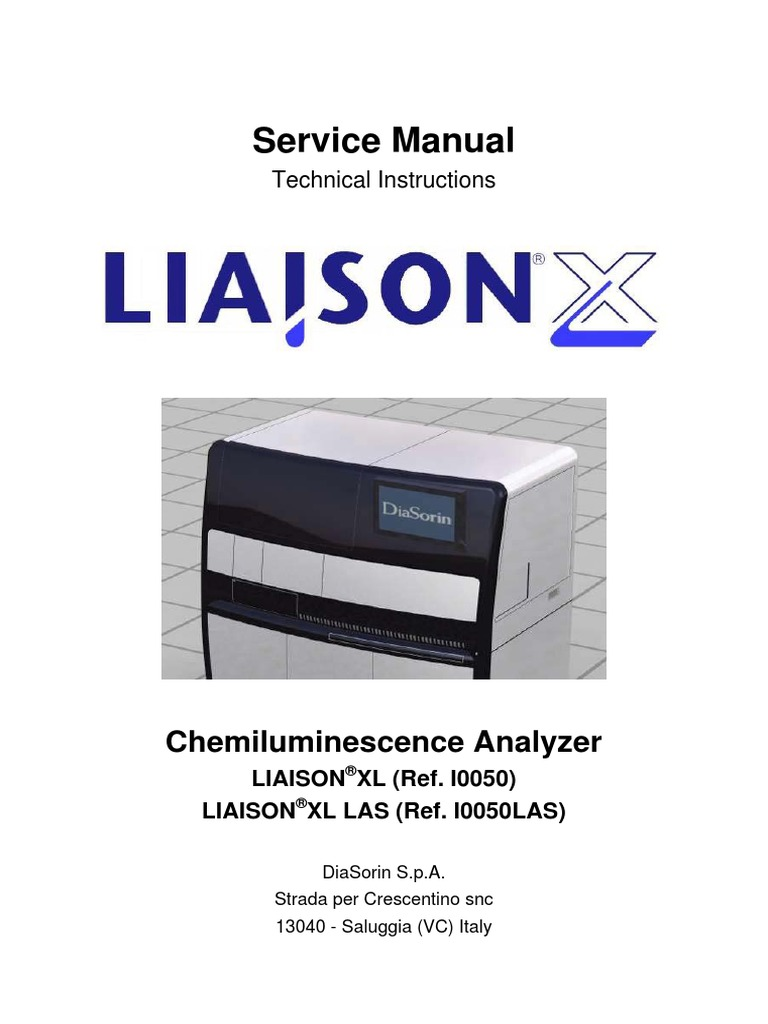 liaison xl service manual 2 0 m0200008696 revision 02 tab gui rh scribd com diasorin liaison service manual diasorin liaison xl operating manual