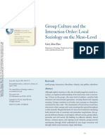 Alan Fine, Gary. Gropu Culture and Interaction Order_local Sociology on the Meso_level