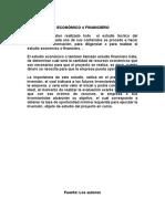 Estudio financiero (proyecciones)