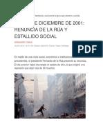 19 y 20 de Diciembre de 2001