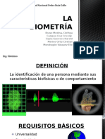 La Biometría