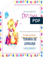 Diploma Terminacion Terapia