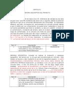 CAPITULO II Memoria Descriptiva Servicio Comunitario Willi9am Flores