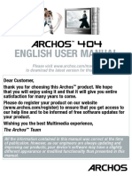 English - User Manual - Archos 404 - V2.2