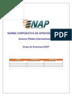 Norma Corporativa de Aprovisionamiento - Anexos Filiales Internacionales