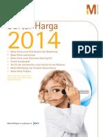 Daftar Harga Merck Millipore 2014