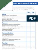 Milestones Checklist