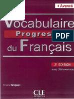 Vocabulaire Progressif Du Français Avancé
