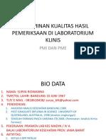 1. Penjaminan Kualitas Hasil Pemeriksaan Di Laboratorium Klinis