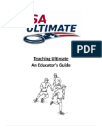 Sports Ultimate, Teaching ultimate an Educators Guide