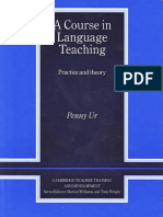 Penny Ur a Course in Language Teaching Practice of Theory