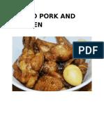 Adobo Pork and Chicken