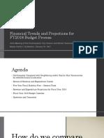 Northampton MA Financial Indicators - FY2018 Budget