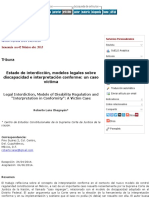 Estado de interdicción, modelos legales sobre discapacidad e interpretación conforme