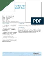 Ed Excel i Gcse Further Pure Mathematics Student Book