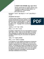 Análisis Del Grupo i de Cationes