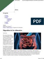 Digestión de Los Alimentos - El Blog Oficial de Ana María Lajusticia