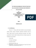 Perbandingan Teori Hukum Menurut Roscoe Pound Friedrich Karl Von Savigny Dipandang Dari Perspektif Politik Hukum_Agung Yuriandi