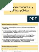 Economía Conductual y Políticas Públicas Set 2016
