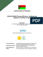 Energy Audit Vanuatu