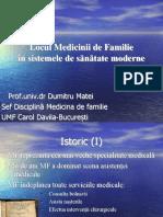 Locul Medicinii de Familie in Sistemele de Sanatate Moderne