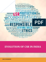 Evolution of Csr in India