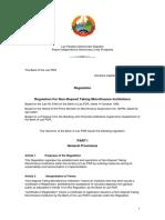 RegulationforNon-DepositTakingMFIs