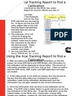 Using the Xcal Tracking Report to Find a Calibration