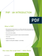 PHP - Chapter 1.0
