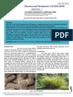 Vetiveria Zizanioides a Medicinal Herb
