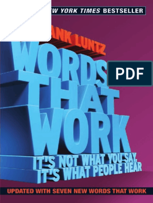 Words That Work pdf | Party Leaders Of The United States
