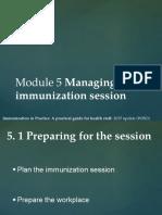 Module 5 - Managing an Immunization Session