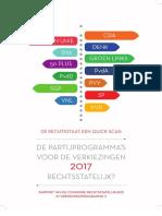 Commissie rechtsstatelijkheid in verkiezingsprogramma's 2017