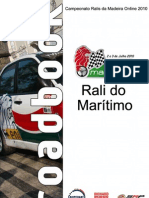 Roadbook - Rali do Maritimo 2010