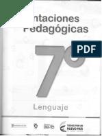 Orientaciones Pedagogicas 7 Lenguaje