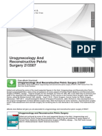 Urogynecology and Reconstructive Pelvic Surgery 215507