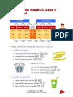 Medidas de Longitud Peso Capacidad Actividades Matemáticas Smd