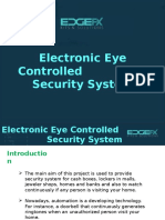 Microcontroller based Electronic Eye Controlled security System